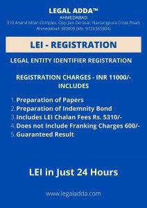 Legal Entity Identifier Registration