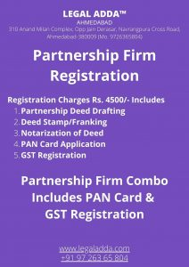 Partnership Firm Registration in Ahmedabad Gujarat