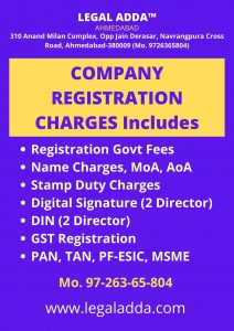 Company Registration Charges