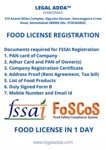Food License Consultant Near me