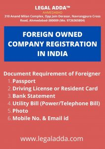 Foreign Subsidiary Company Registration in India