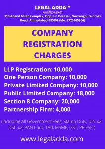 Private Limited Company Registration Charges
