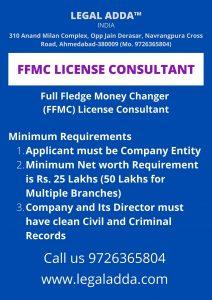 FFMC License Consultant