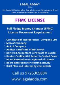 Full fledge Money Changer License requirement