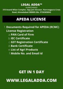 Apeda Registration Consultant Near Ahmedabad