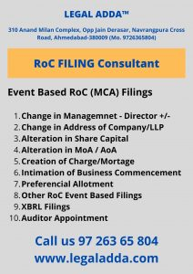 MCA Filing Consultant near me
