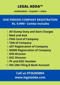 OPC Registration Fees & Charges