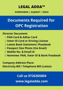 OPC Registration in Ahmedabad
