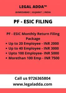 PF ESIC Return Filing Consultant in Ahmedabad