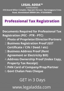 Professional Tax Registration Consultant in Ahmedabad