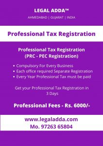 Professional Tax Registration Consultant in Gujarat